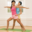 Yoga fitness class — Stock Photo #9309647