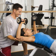 Training at gym - Foto Stock