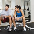 At gym — Stock Photo