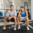 Workout partners — Stock Photo