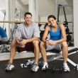 Stock Photo: Workout partners