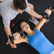 Weight workout - Foto Stock