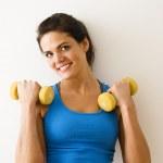 Woman strength training — Stock Photo