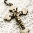 Crucifix on Bible. — Stock Photo #9309817