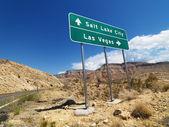 Desert road sign. — Stock Photo