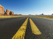 Open desert road. — Stock Photo