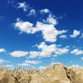 Mountains and Blue Sky in the South Dakota Badlands — Stock Photo