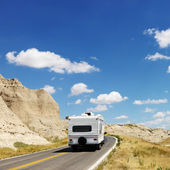 Camper on scenic road. — Stock Photo