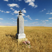Rural grave marker. — Stock Photo