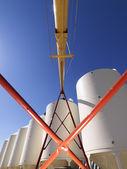 Grain silo storage. — Stock Photo