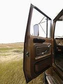 Farm truck with door open. — Stock Photo