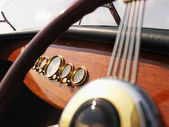 Boat steering wheel. — Stock Photo