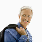 Smiling man with jacket. — Stock Photo