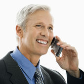 Man on mobile phone. — Stock Photo