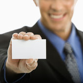 Man holding business card. — Stock Photo