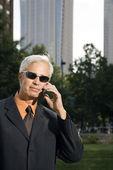 Outdoor businessman. — Stock Photo
