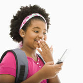 Girl with cell phone. — Stock Photo