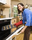 Woman baking. — Stock Photo