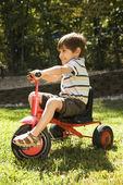 Triciclo del montar a caballo chico. — Foto de Stock