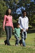 Family in park. — Stock Photo