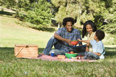 Picnic in park. — Stock Photo