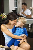 Mom and son. — Stock Photo