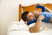Father tickling child. — Stock Photo