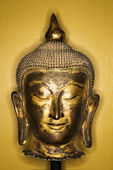 Bronze Buddha head. — Foto Stock