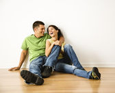 Laughing couple. — Stock Photo