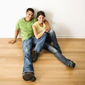 Couple in home. — Stock Photo