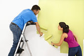 Couple painting home. — Stock Photo