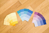 Paint color swatches. — Stock Photo