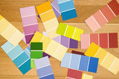 Color paint swatches. — Stock Photo