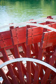 Paddlewheel of riverboat. — Stock Photo