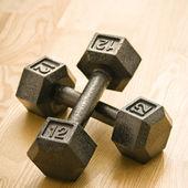 Metal hand weights — Stock Photo