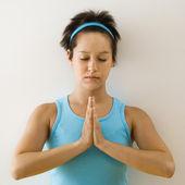 Yoga woman — Stock Photo