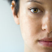 Woman face close up — Stock Photo
