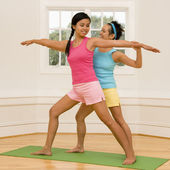 Women in yoga class — Foto Stock
