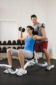 Gym workout — Stock Photo