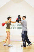 Woman fitness boxing — Stock Photo