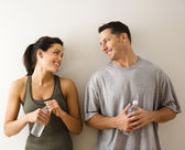 Fitness man and woman — Stock Photo