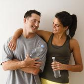 Happy fitness couple — Stock Photo