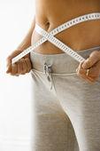 Woman on diet — Stock Photo