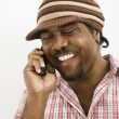 Stock Photo: Man on cellphone.