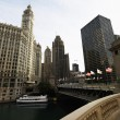 Stock Photo: Chicago River, Illinois.
