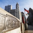 Bridge, Chicago, Illinois. - Stock Photo