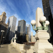 Chicago, Illinois street. - Stock Photo