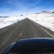 Car on road in winter. — Stock Photo