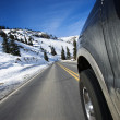 Car on road in winter. — Stock Photo #9310570
