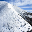 Snowy Mountain Peak - Stock Photo